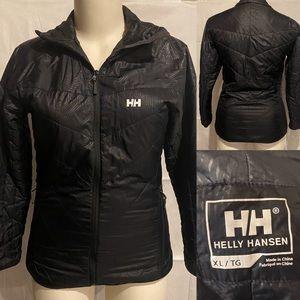 Black helly Hansen lightweight black jacket